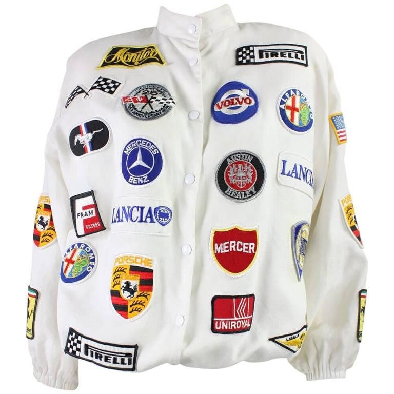 Vintage 1980's Jacket with Automotive Theme