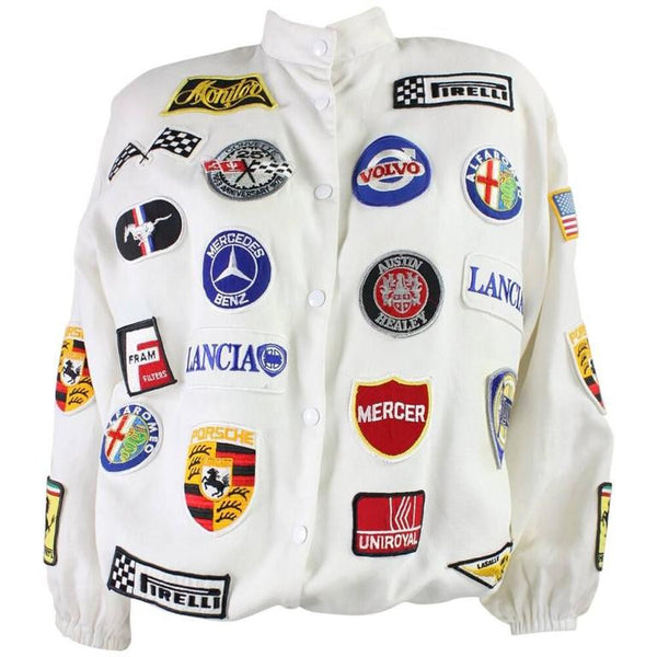 1980's Jacket with Automotive Theme Vintage - regenerationvintageclothing