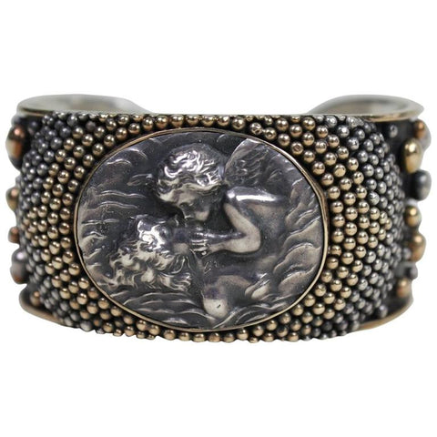 Anne Pratt Cuff with Mother & Child Cameo Vintage - regenerationvintageclothing