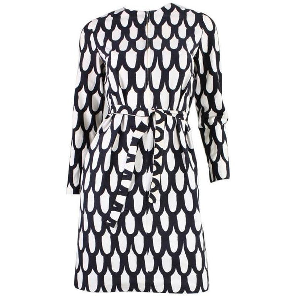 Vintage 1965 Marimekko Black & White Printed Dress