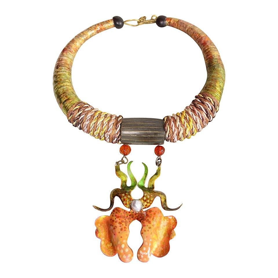 Vintage Jewelry: 1970's Alex & Lee Orchid Necklace