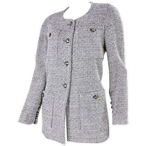 Vintage 1980's Chanel Wool Boucle Jacket