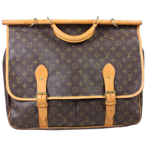 Vintage 1990's Louis Vuitton Sac Chasse Monogram Canvas Luggage