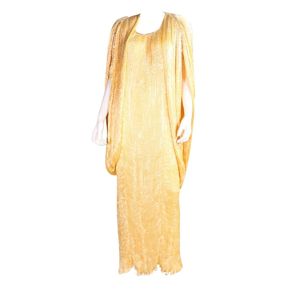 Vintage Clothing: 1980's Patricia Lester Pleated Silk Beaded Ensemble