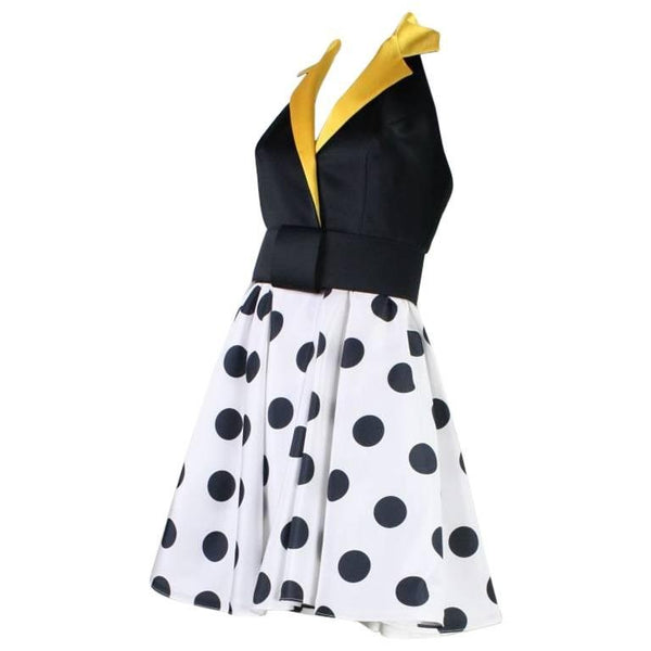 1980's Kathryn Conover Polka-Dotted Halter Dress