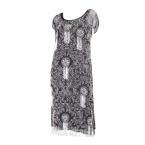Vintage Dresses: 1920's Art Deco Beaded Chiffon Dress