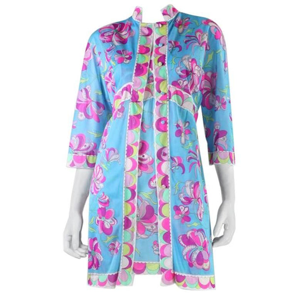 1960's Emilio Pucci for Formfit Rogers Robe & Nightgown