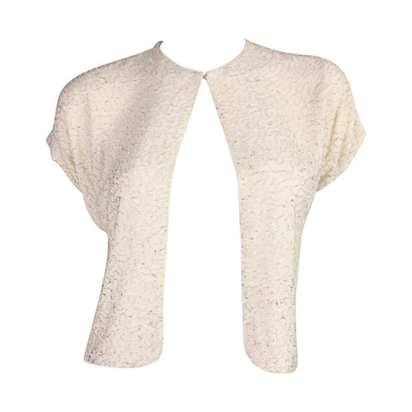 Vintage Clothing: 1940's Beaded Cream Jacket