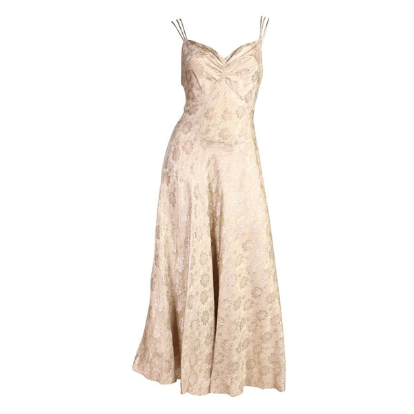 Vintage Dresses: 1930's Lame Bias-Cut Evening Dress