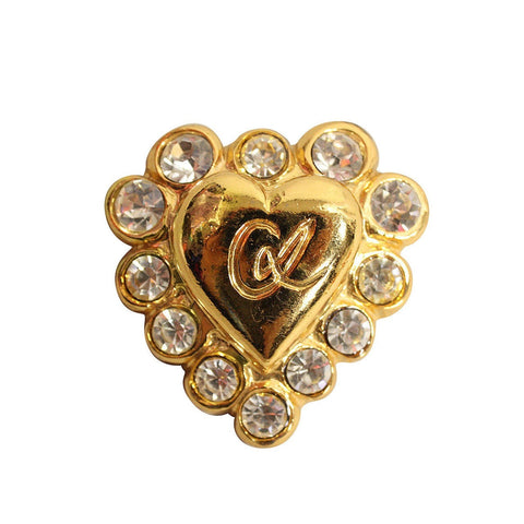 Christian Lacroix Brooch 1990's Gold-Toned Heart Vintage - regenerationvintageclothing
