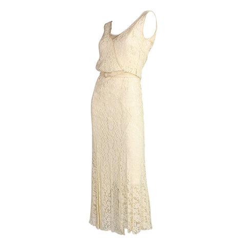 Vintage Dresses: 1930's Ivory Lace Dress