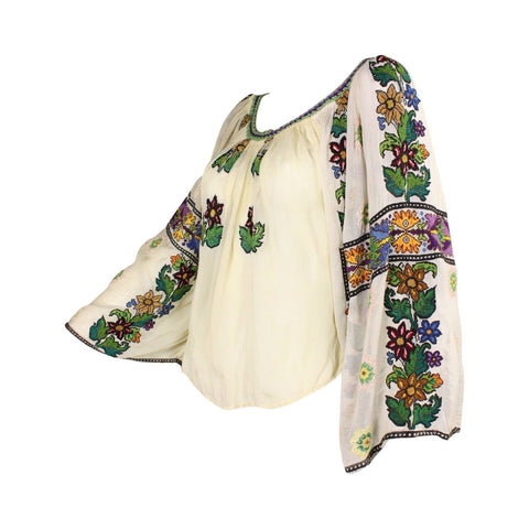 Vintage Clothing: 1930's Eastern European Embroidered Blouse
