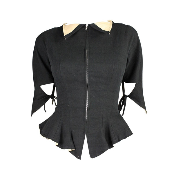 Yohji Yamamoto Jacket Fitted with Peplum Vintage - regenerationvintageclothing