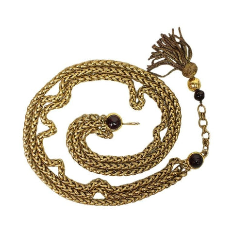 Vintage Clothing: Chanel Gold-Toned Chain Belt with Gripoix