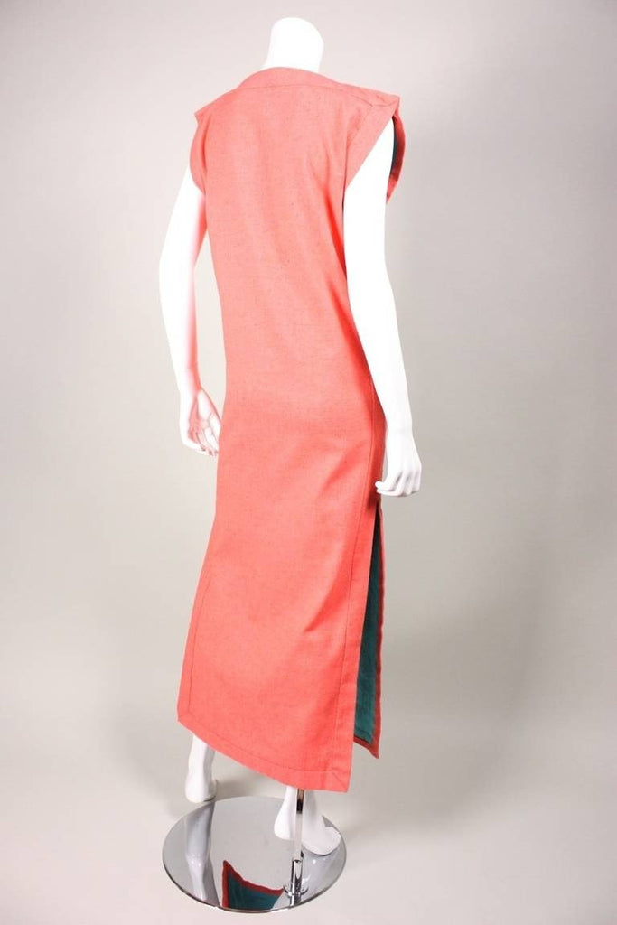 Vintage 1970's Tabard Dress With Egyptian Motif