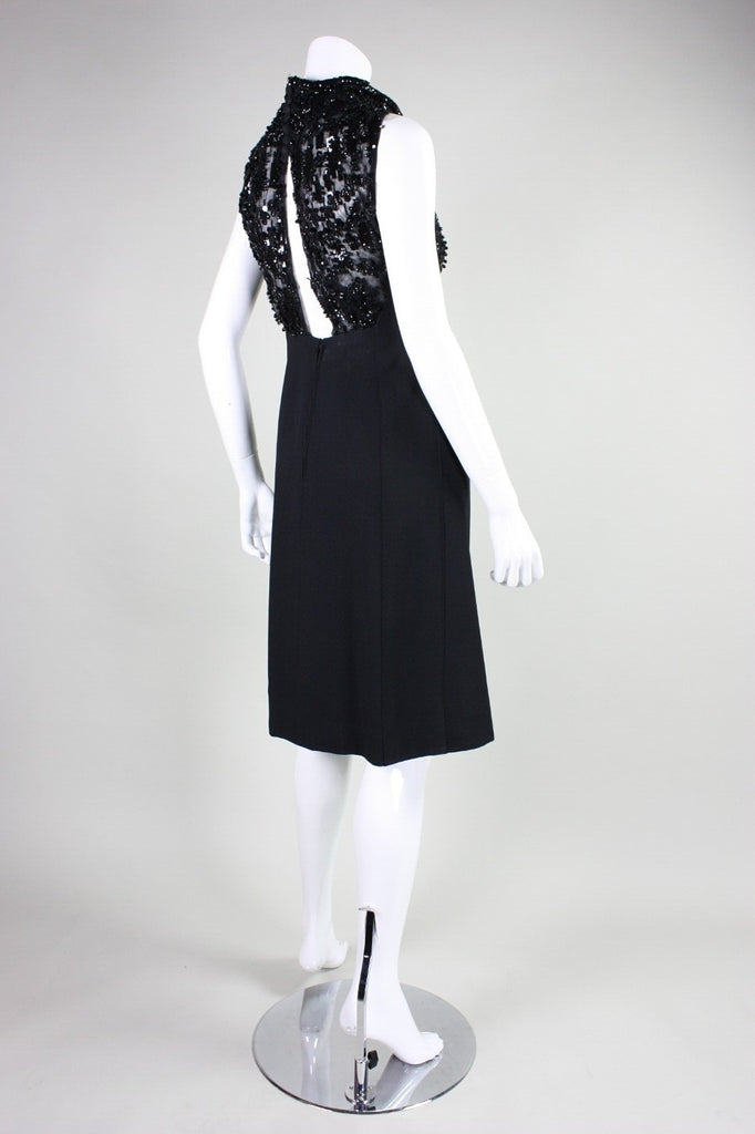 Vintage Dresses - Vintage 1960's Beaded Italian Cocktail Dress