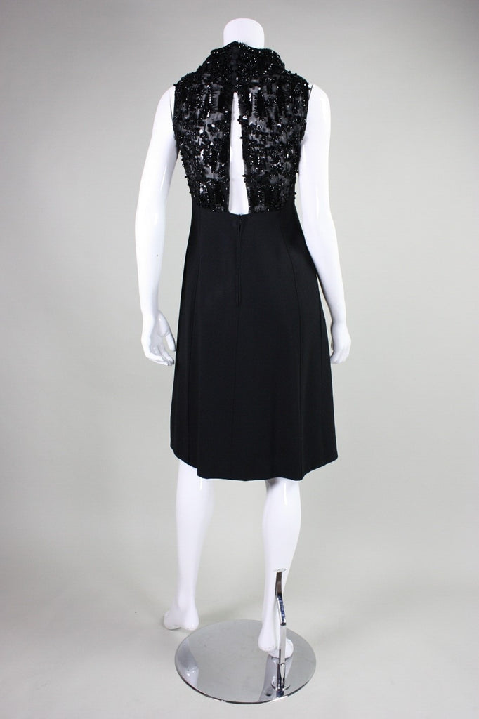 1960's Cocktail Dress Beaded Italian Vintage - regenerationvintageclothing