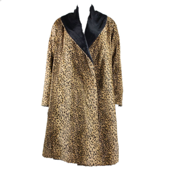 Fendi Swing Coat 1980's Reversible Faux Fur Vintage - regenerationvintageclothing