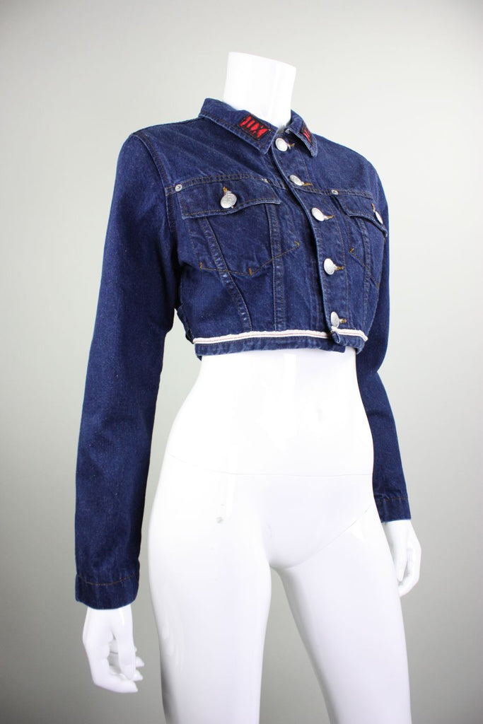 Jean-Paul Gaultier Jacket 1990's Cropped Denim Vintage - regenerationvintageclothing
