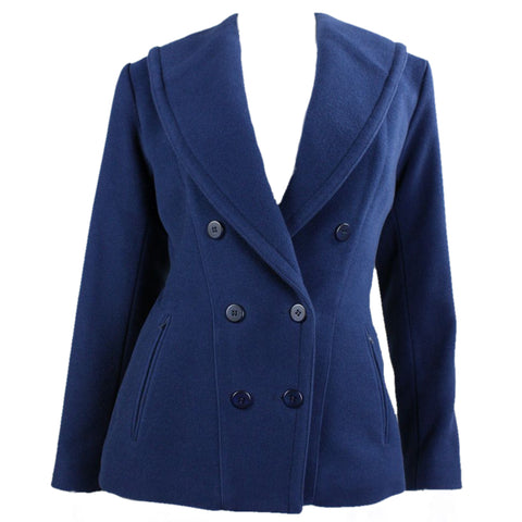 Alaïa Jacket Blue Wool Double-Breasted 1980's Vintage - regenerationvintageclothing