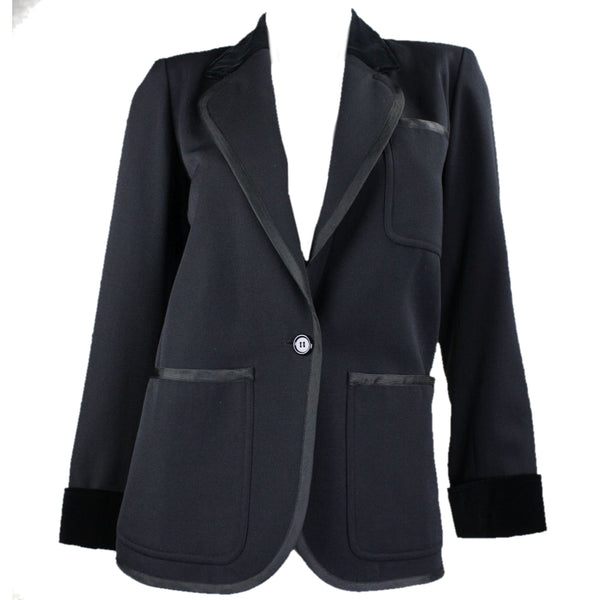 Yves Saint-Laurent Jacket 1970's Tuxedo Smoking Vintage - regenerationvintageclothing