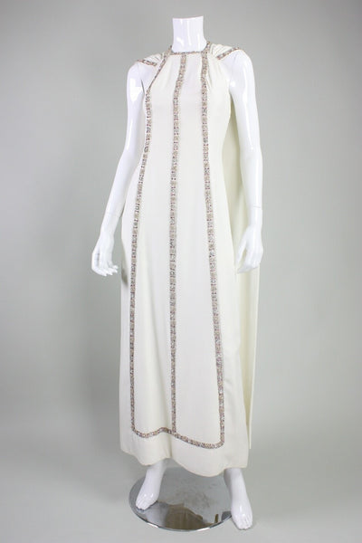 Vintage Dreseses: 1960's Gattinoni Couture Beaded Gown and Cape
