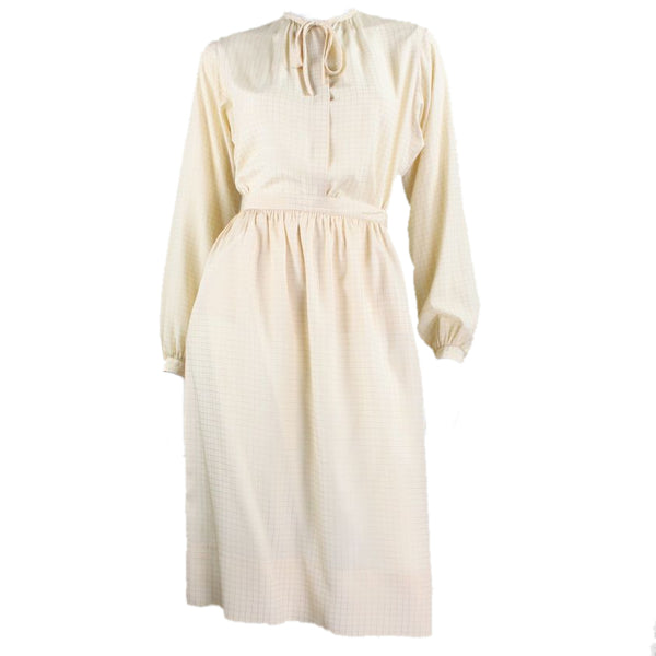 Calvin Klein Ensemble 1970's Cream Silk Vintage - regenerationvintageclothing