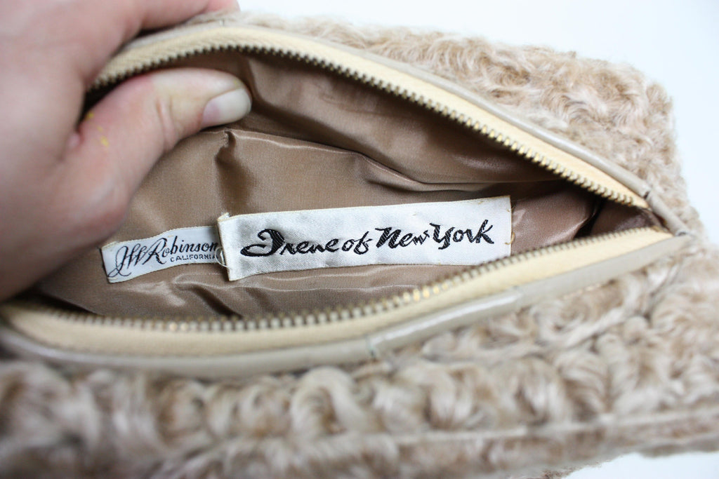 Irene of New York Handbag Broadtail Vintage - regenerationvintageclothing