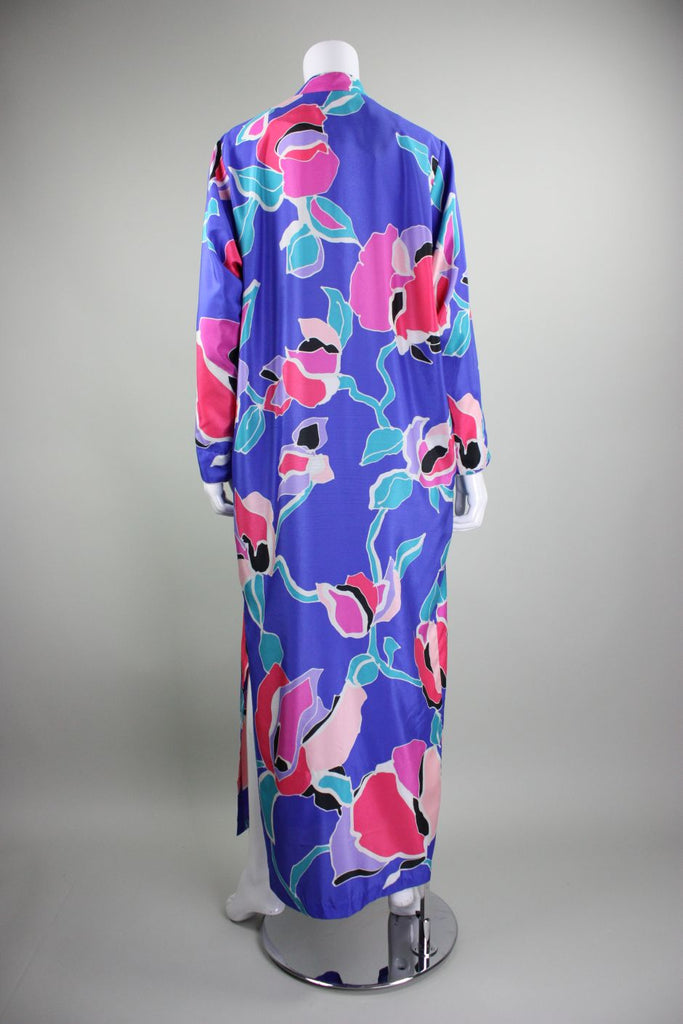 Christian Dior House Dress 1970's with Floral Print Vintage - regenerationvintageclothing