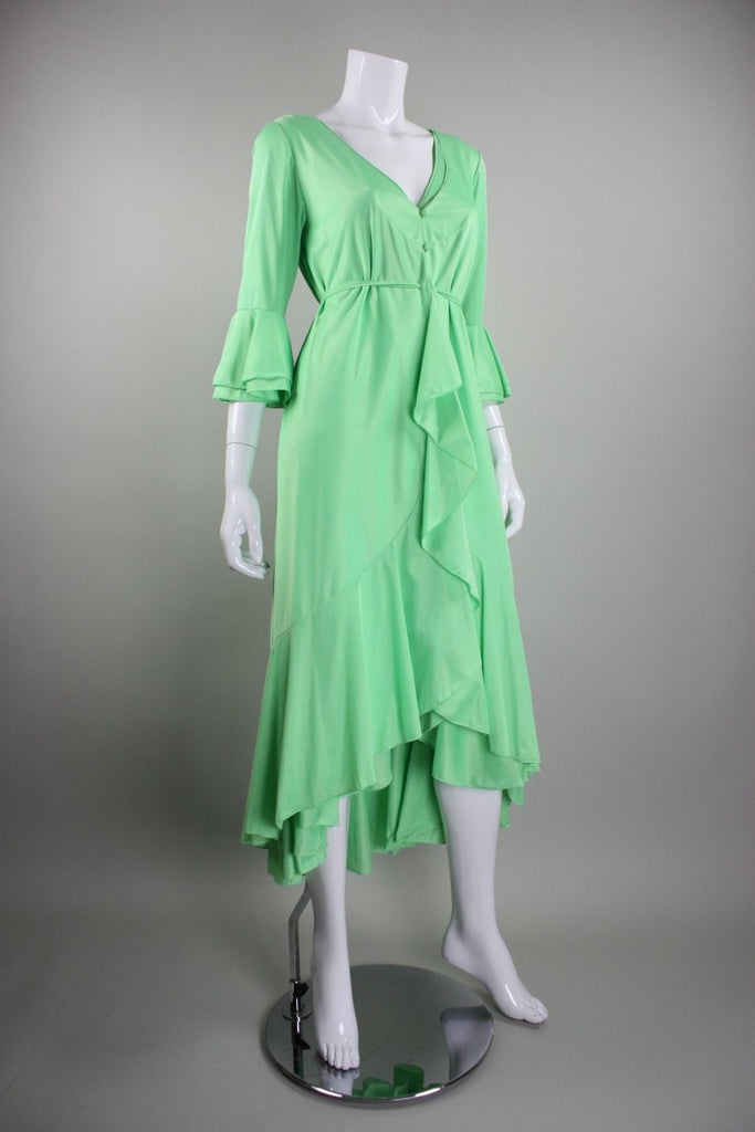 1970's Robe and Nightgown Lucie Ann for Claire Sandra Vintage - regenerationvintageclothing
