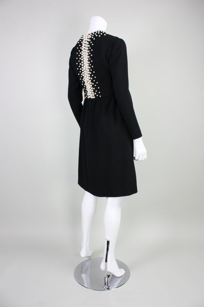Vintage 1960's Donald Brooks Cocktail Dress with Pearl Detailing
