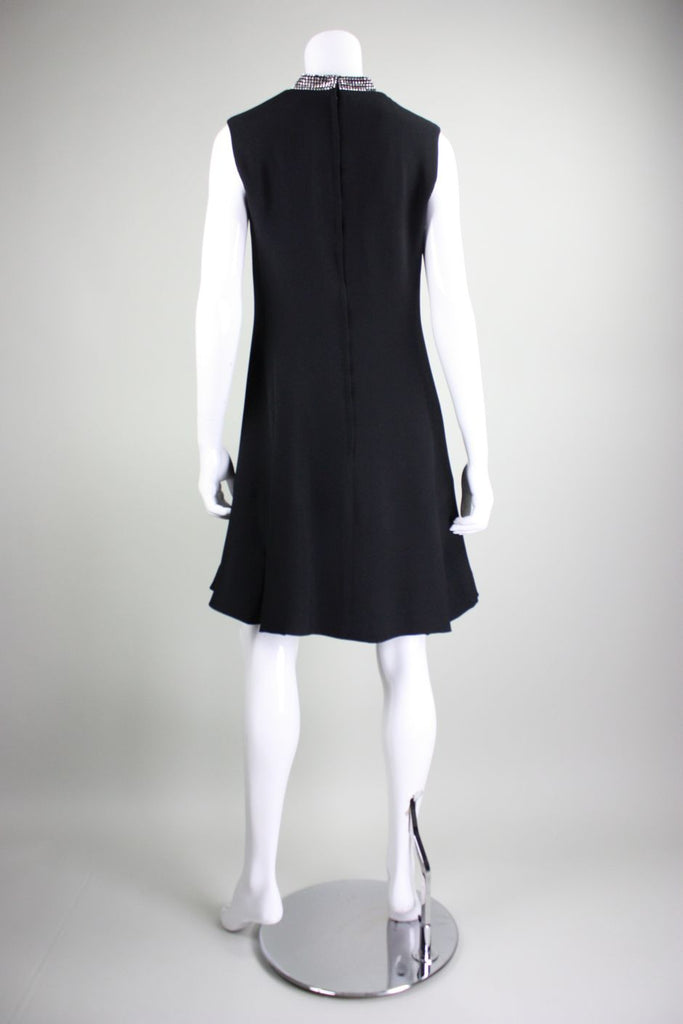 Ric McClintock Cocktail Dress 1960's with Rhinestones Vintage - regenerationvintageclothing