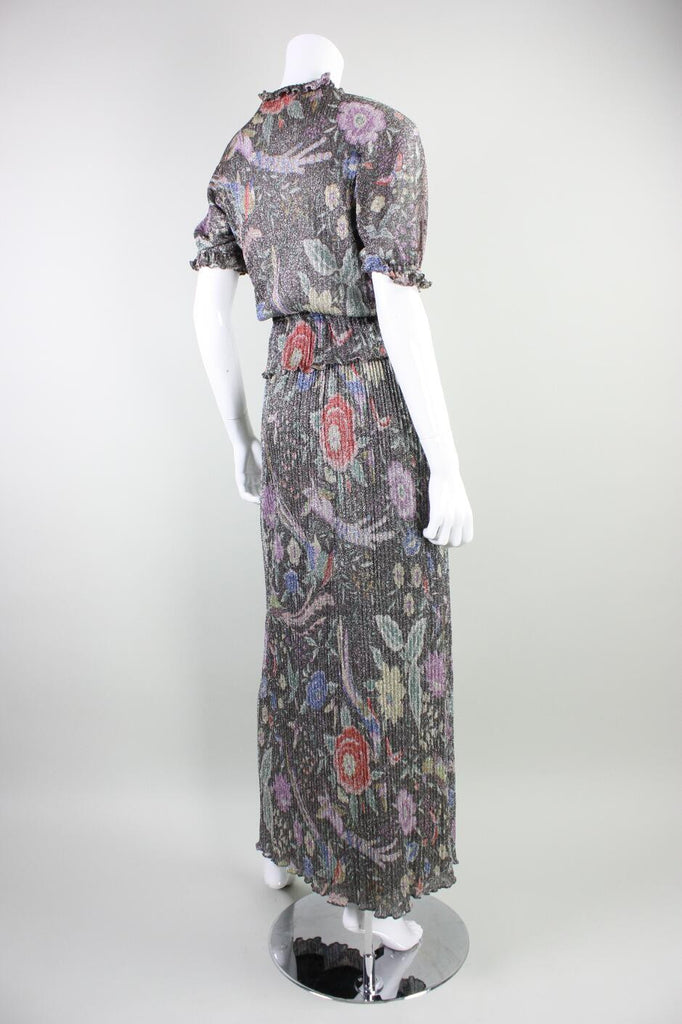 Missoni Ensemble 1970's Metallic Vintage - regenerationvintageclothing