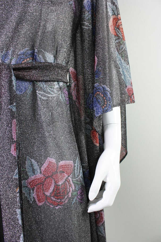 Missoni Gown 1970'sLurex with Floral Motif Vintage - regenerationvintageclothing