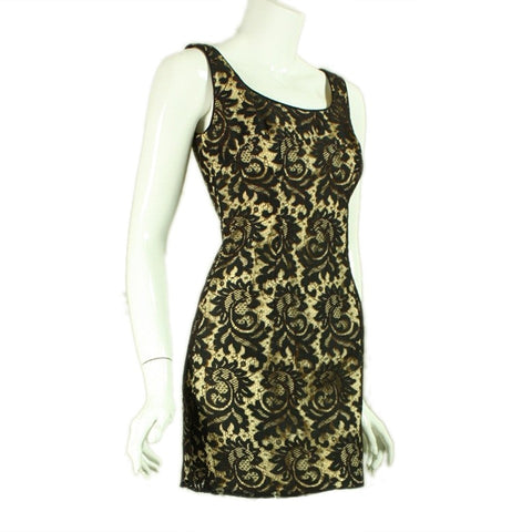 1960's Mini Dress Black Lace Vintage - regenerationvintageclothing