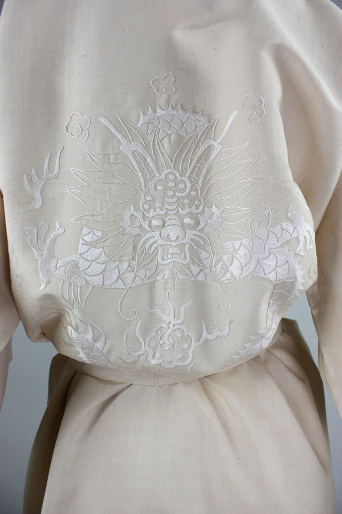 1920's Chinese Robe with Dragon Embroidery - regenerationvintageclothing
