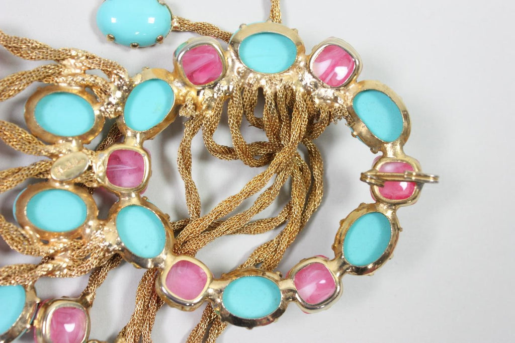Kenneth Jay Lane Belt 1960's Bejeweled Vintage - regenerationvintageclothing