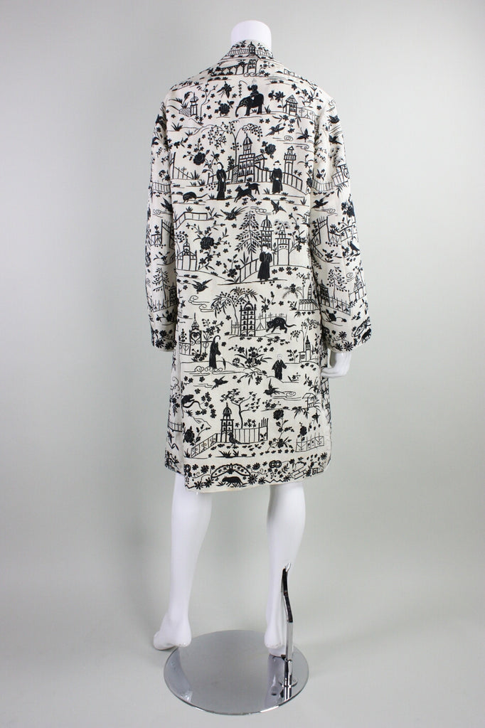 1920's Coat Chinese Hand Embroidered Vintage - regenerationvintageclothing