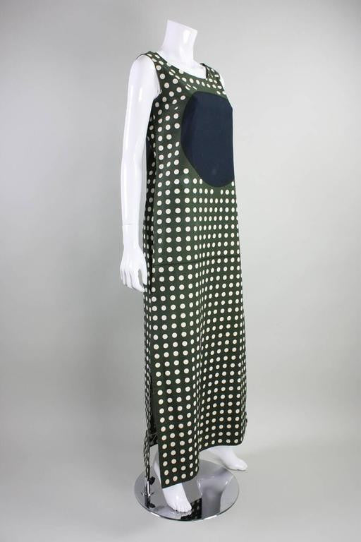 Vintage 1960's Marimekko Graphic Cotton Maxi Dress