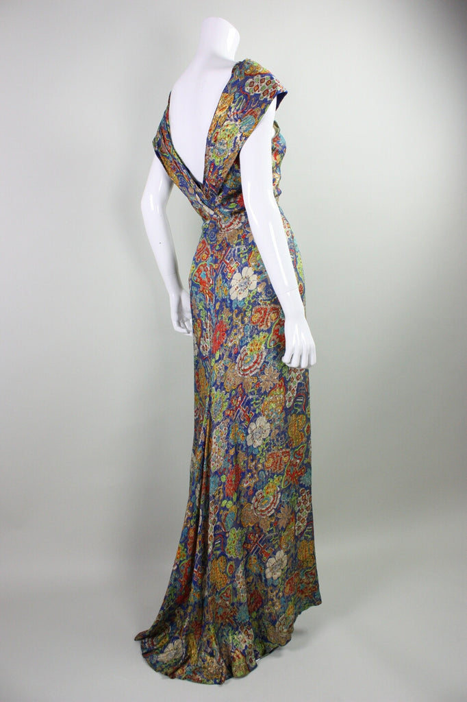 Vintage 1930's Blue Lame Gown and Bolero