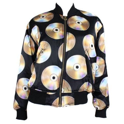 1990s Moschino Reversible CD/Tape Deck Bomber