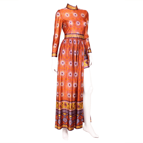 Vintage Clothing: 1970's Jersey Maxi With Shorts