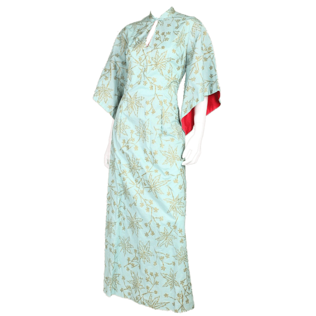 1950's Dress Pake Muu Screenprinted Cotton Vintage - regenerationvintageclothing