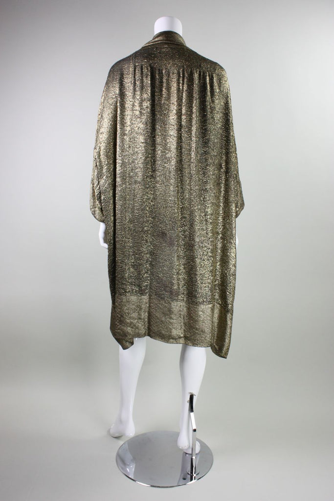 1920's Liberty of London Gold Lame Cocoon Coat