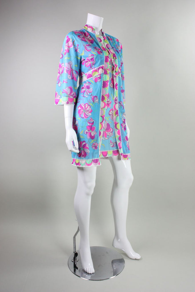 Pucci Robe & Nightgown 1960's for Formfit Rogers Vintage - regenerationvintageclothing