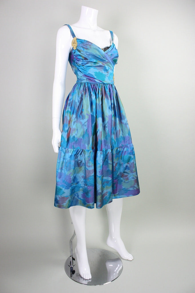 1990's Cocktail Dress Tracy Feith Ikat Vintage - regenerationvintageclothing