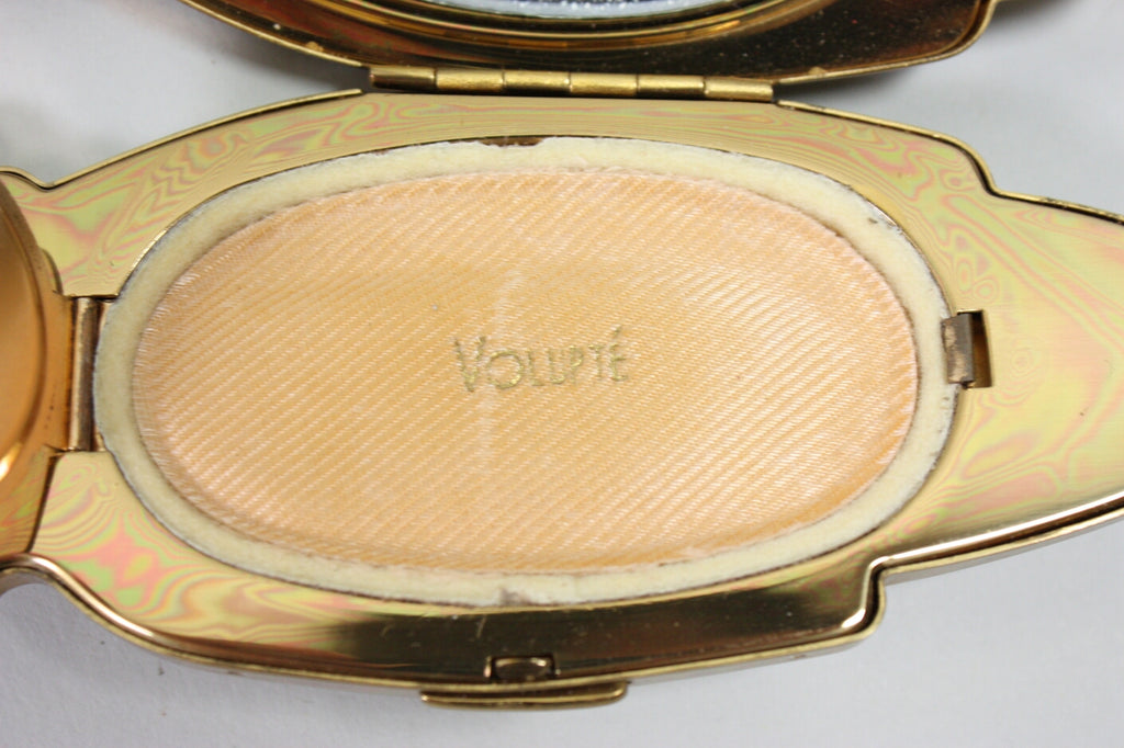 Vintage 1940's Volupte Figural Hand Compact