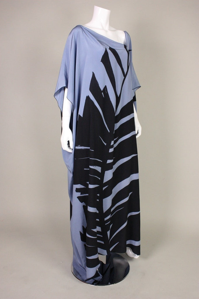 1980's Caftan with Bold Graphic Print Vintage - regenerationvintageclothing