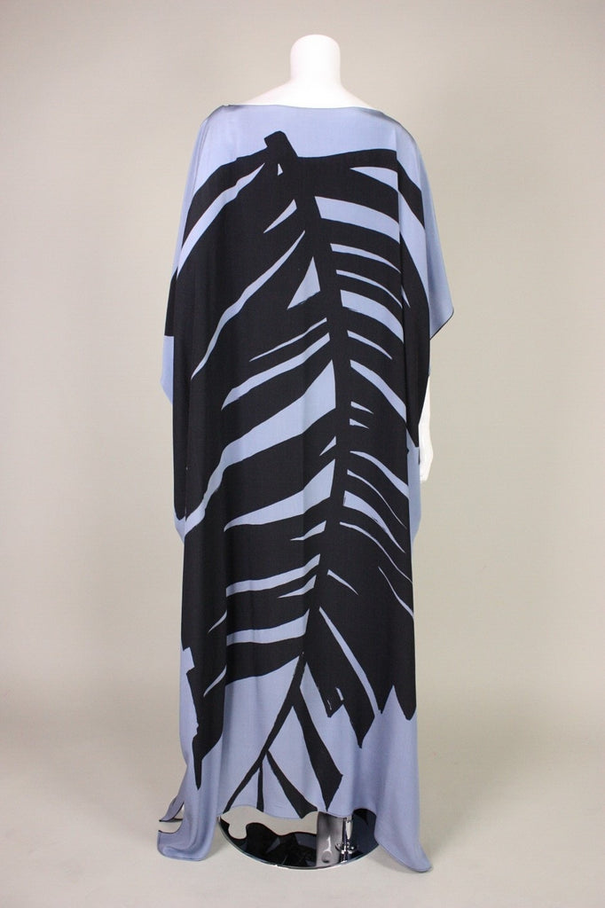 Vintage 1980's Caftan with Bold Graphic Print