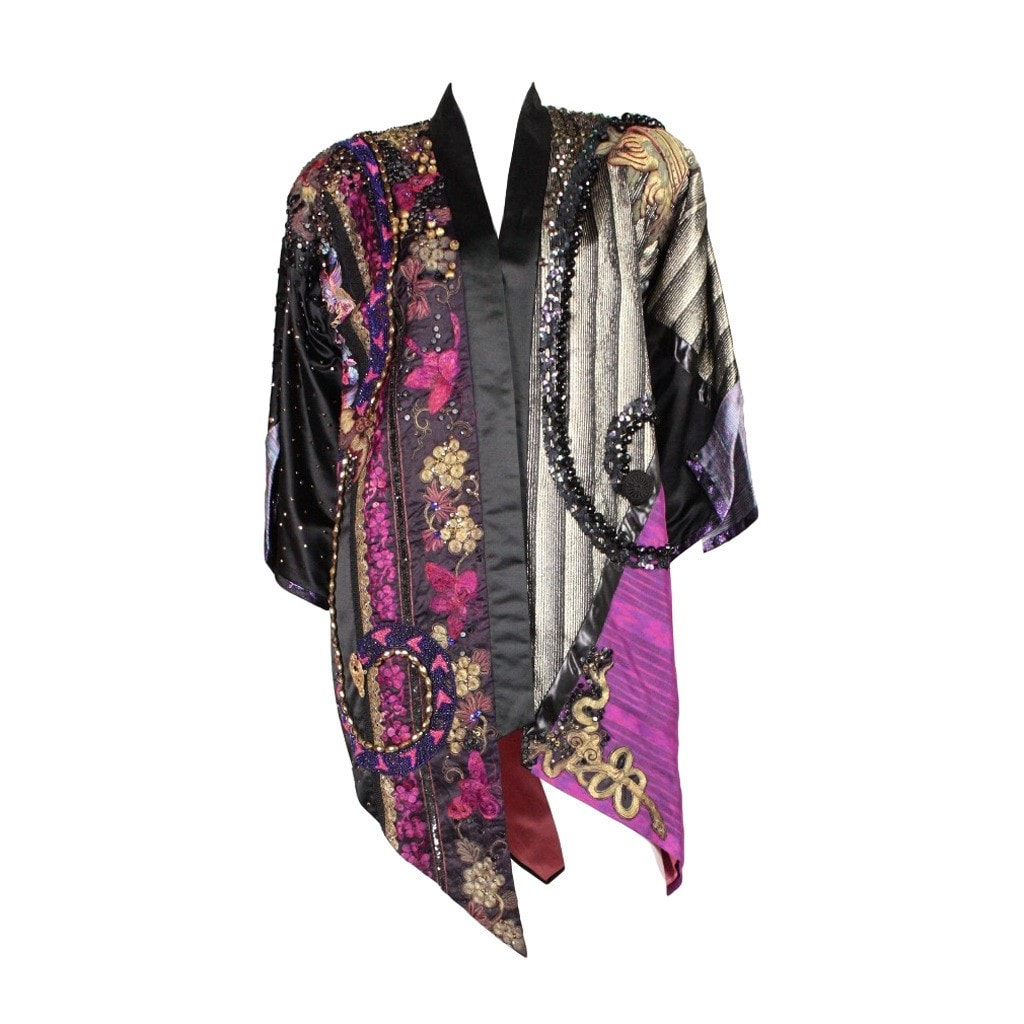 Vintage Clothing: 1980's Art to Wear Highly Embellished Coat